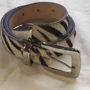 Accessories - Western Zebra Print Fashion belt Sz MEDIUM